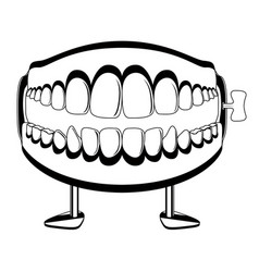 funny teeth joke silhouette vector image