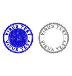 Grunge virus test textured watermarks vector