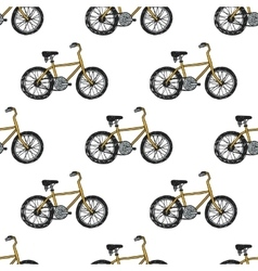 Hand drawn doodle cycling background vector