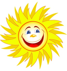 Happy sun cartoon vector image