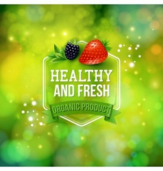 Healthy Fresh Organic Product card design vector