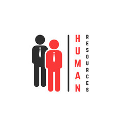 human resources logo with stick men figure vector image