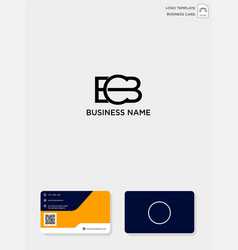 initial cb or bc creative logo template and vector image