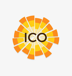 initial coin offering abbreviated ico vector image