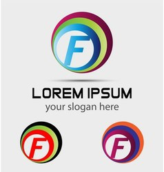 Letter F logo element vector
