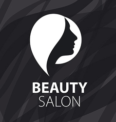 Logo for female hair salon vector