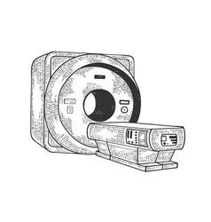 Magnetic resonance imaging scanner sketch vector