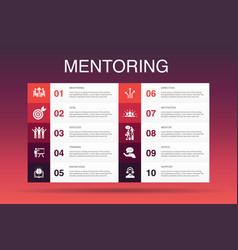 Mentoring infographic 10 option templatedirection vector