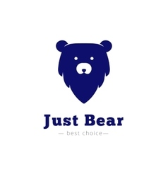 Minimalistic bear head logo vector