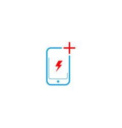 Mobile phone repair logo design template vector