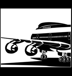 modern jet airplane vector image