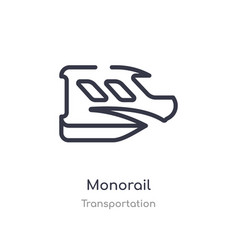 Monorail outline icon isolated line from vector