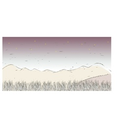 Mountain landscape sketch vector