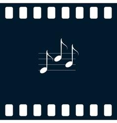 Music icon vector image