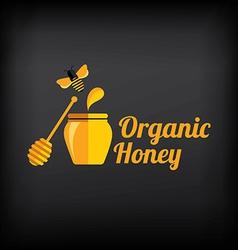Organic honey vector