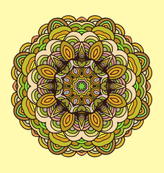 ornament hand drawn mandala colorful vector image