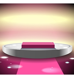 Pink disco podium vector image