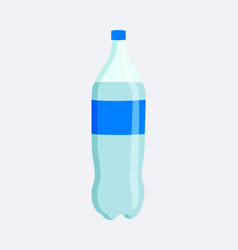 plastic bottle with label vector image