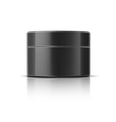 realistic cosmetics jar black mockup bottle vector image