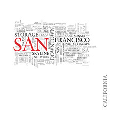 san word cloud concept vector image