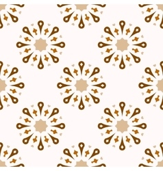 Seamless ornamental symbols pattern vector image