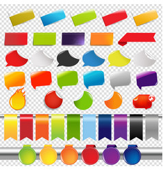 set of color sale stickers and labels vector image