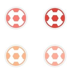 Set of stickers Brazilian football on white vector
