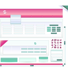 Set pieces for bank site vector