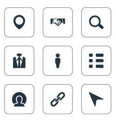 Set simple conference icons vector