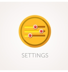 Settings Icon Flat design style with long shadow vector