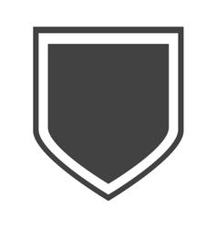 shield protection insignia honorary vector image