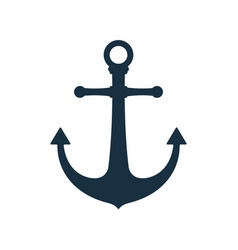 simple anchor icon nautical symbol vector image