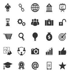 Start up icons on white background vector