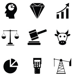stock exchange icon set vector image