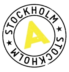 Stockholm stamp rubber grunge vector image