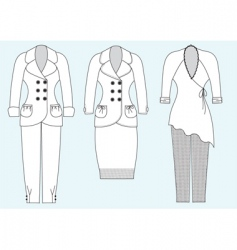 suits for woman vector image