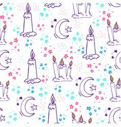 Sweet dreams doodle seamless pattern-10 vector