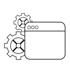 Technical support window cartoon vector
