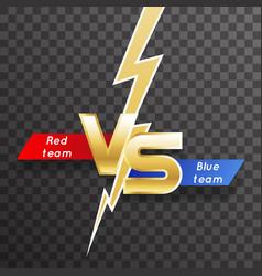 transparent background lightning strike vs letter vector image
