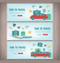 travel banners summer holidays travel and vector image