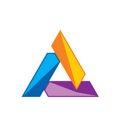 Triangle colorful shape logo vector