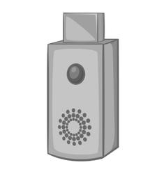 USB flash drive icon black monochrome style vector