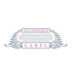 Vintage gold hipster label with lettering san vector