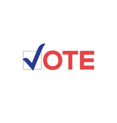 Vote icon election sign vote check logo vector