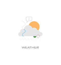 weather forecast application concept line style vector image