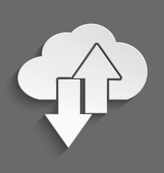 White cloud up and down 3d vector image