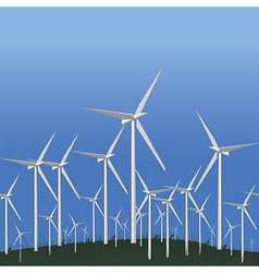 Wind Alternative energy station vector