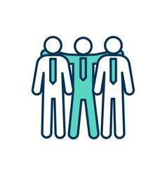 Workmates rgb color icon vector