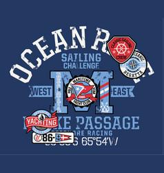 yacht ocean offshore racing sailing challenge vector image