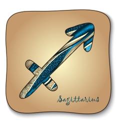 Zodiac sign - sagittarius doodle hand-drawn style vector